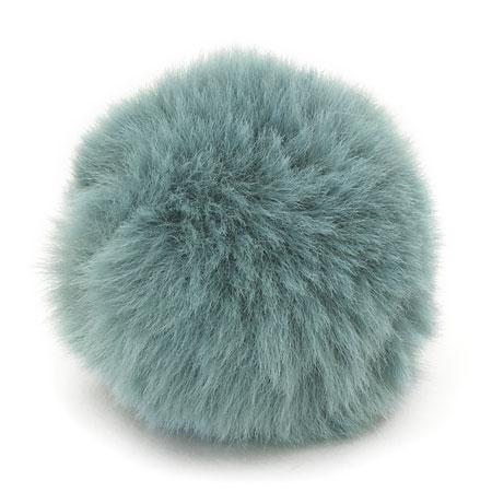 エコファーボール ニコイル付 スモーキーターコイズ 約50mm 1ヶ 服飾素材 貴和製作所 手作りアクセサリーパーツ ビーズの通販